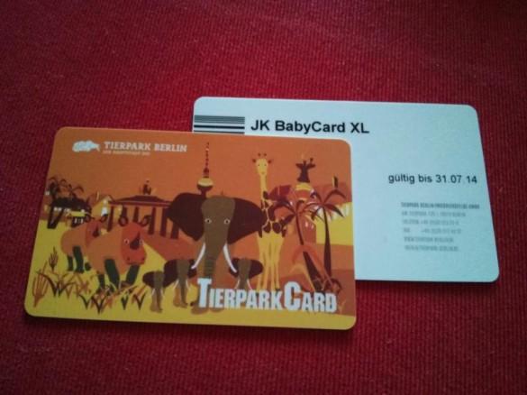 BabyCard für den Tierpark Berlin