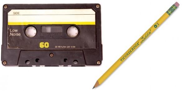 Kassette und Stift Nutzer des Walkman kennen den Zusammenhang