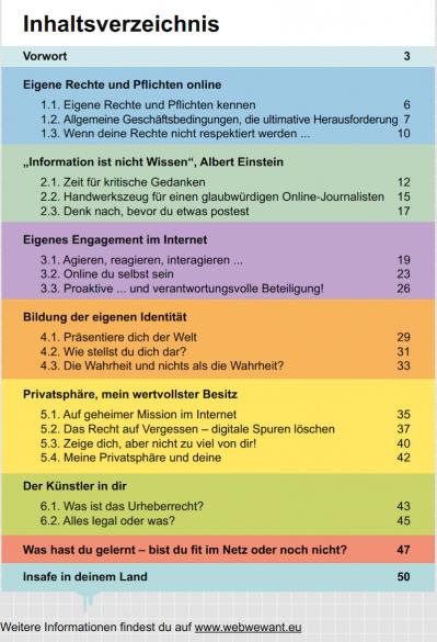 The Web we Want - Inhalt der Broschüre