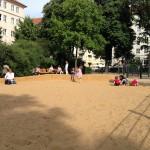 Wismarplatz - Viel Sand
