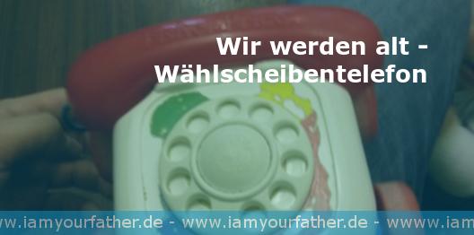 Wer kennt es noch? Das Wählscheibentelefon.