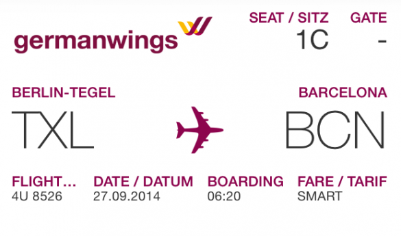 Boardkarte Germanwings