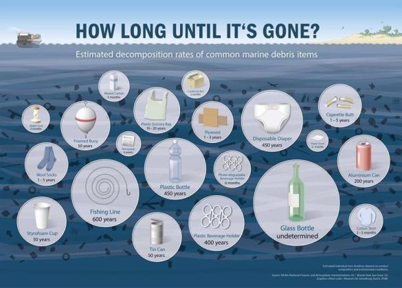Wie lange braucht Plastik und anderer Müll bis er verrottet ist.