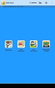 Kids Place - Startbildshirm für die Kinder