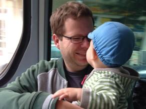 Sebastian Thiele mit seinem Sohn