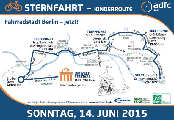 Kinderroute Sternfahrt 2015 Berlin