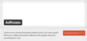 Wordpress Plugin AdRotate