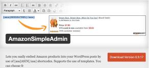 Wordpress Plugin AmazonSimpleAdmin