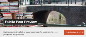 Wordpress Plugin Public Post Preview
