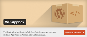 Wordpress Plugin WP Appbox