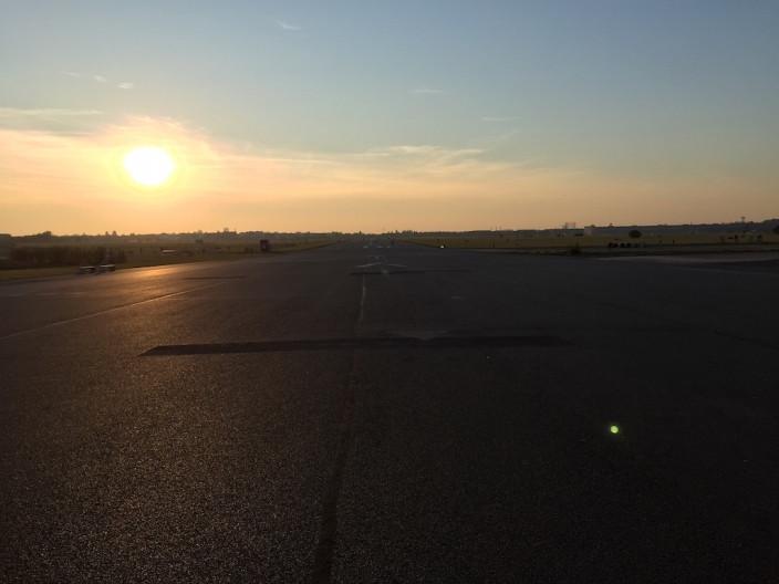 Heimweg übers Tempelhofer Feld