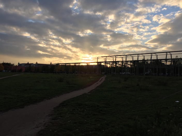 Sonnenuntergang schön, aber auch schön früh