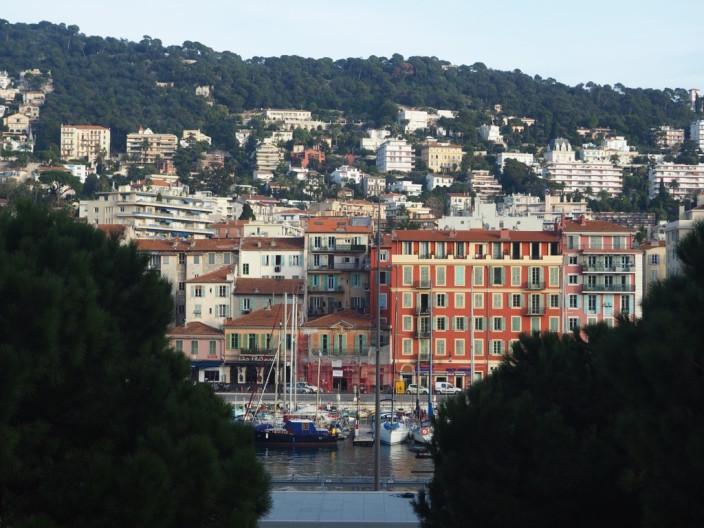 Der Blick auf Nizza