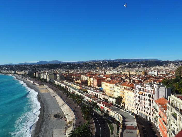 Von hier hatte man einen super Blick auf Nizza