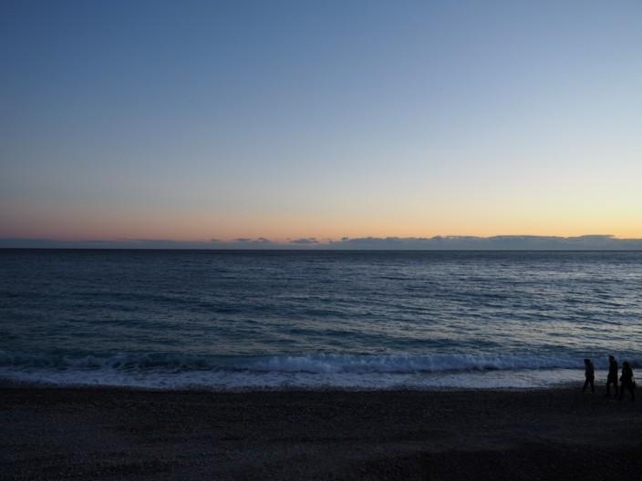 Zweiter Versuch für den Sonnenuntergang in Nizza