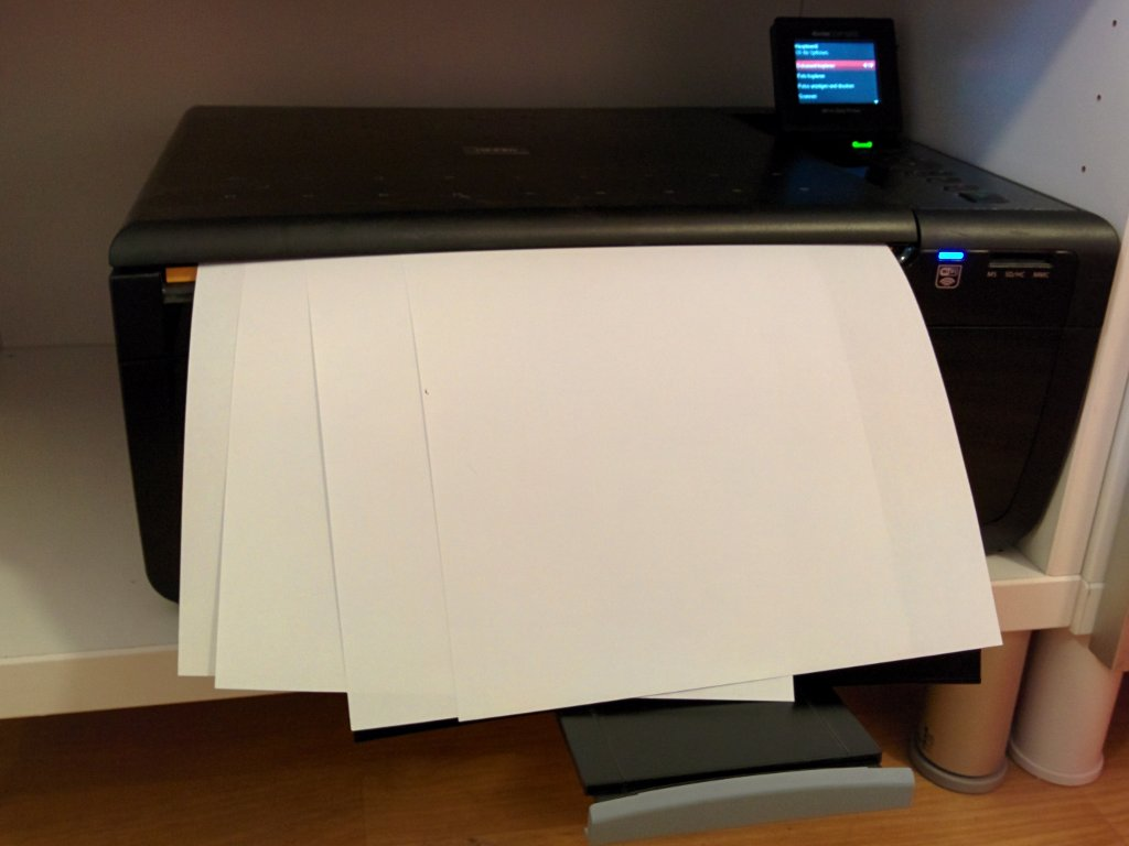 Für diesen Drucker habe ich einen VG Wort Anteil bezahlt obwohl er noch nie eine Webseite gedruckt hat.