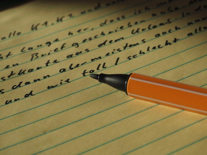 Briefe schreiben mit der Hand... nichts was ich jeden Tag machen will.