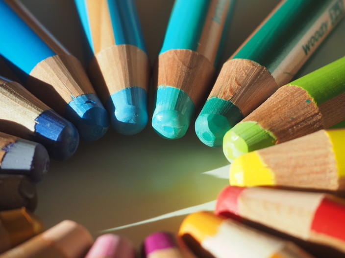 Ich liebe diese Farben der Woody 3-in-1 Stifte