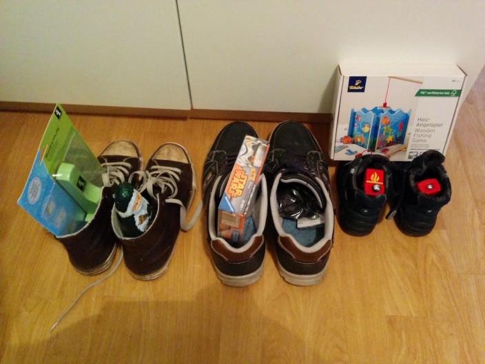 Der Nikolaus kam, auch wenn wir es echt vergessen haben die Schuhe zu putzen.