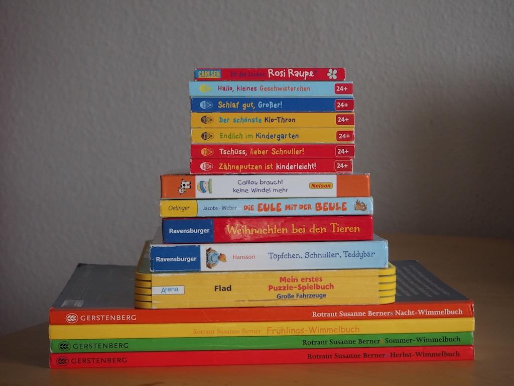 Übersicht der Lieblingsbücher eines zweijährigen