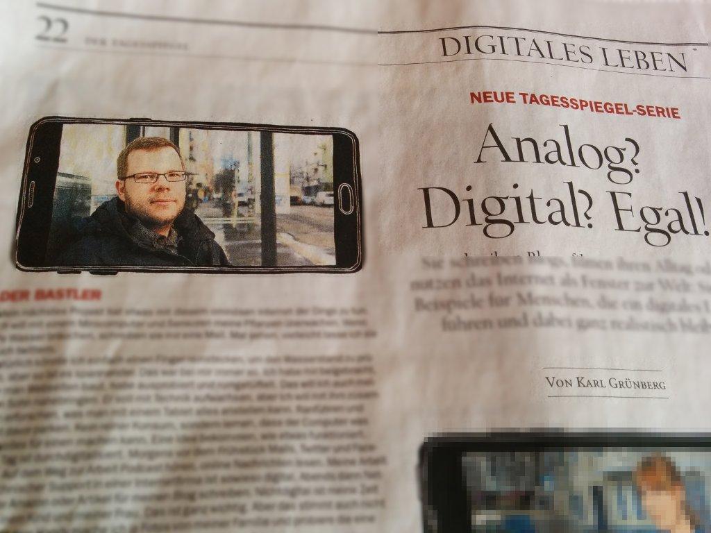 Mein digitales Leben in einer analogen Zeitung