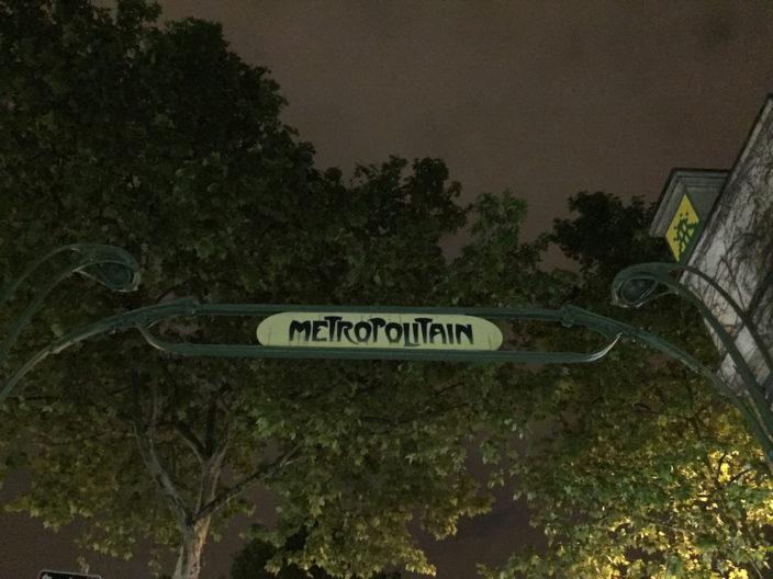 Die Metro in Paris eigentlich Metropolitain