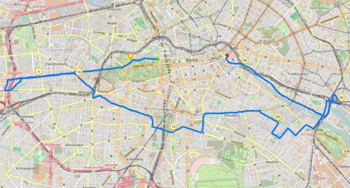 Streckenverlauf Ride of Silence 2016