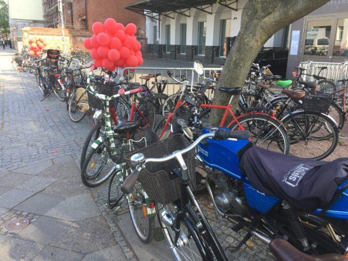 Zu wenige Abstellmöglichkeiten für Fahrräder auf der re:publica 2016