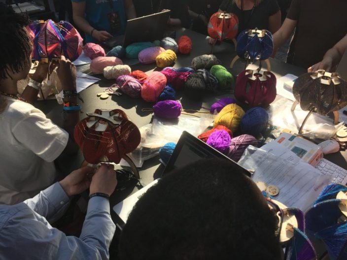 Auch das ist die rpTEN - Wolle beim Makerspace